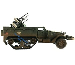 1-32-Diecast-Unimax-Toys-Forces-of-Valor-WWII-US-Army-M16-Halftrack-Quad-50Cal