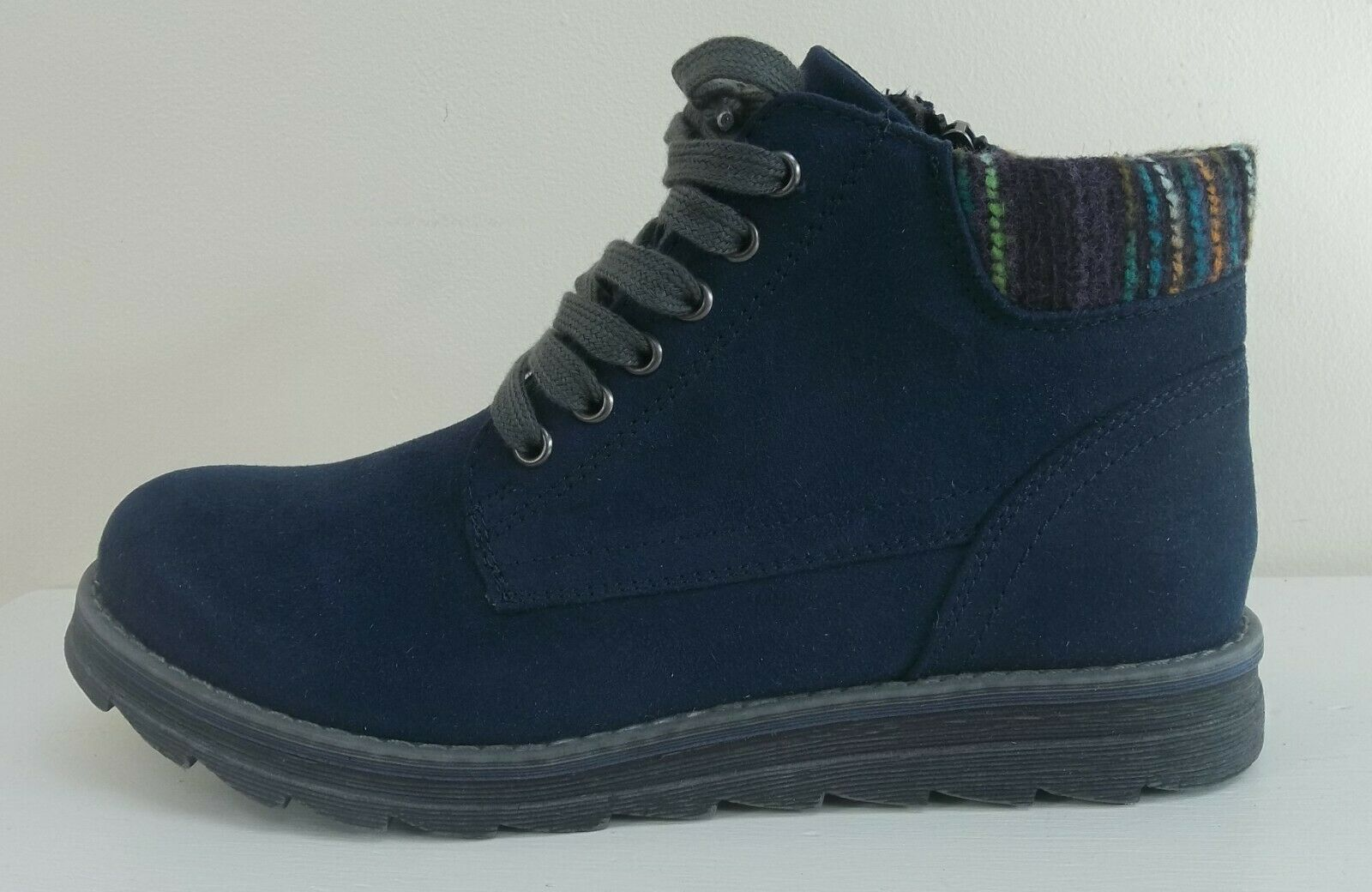 Marco Tozzi navy faux suede ankle boots,   RRP   BNWB