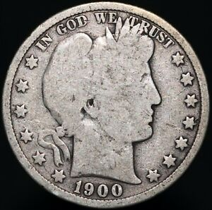 1900-U-S-A-Barber-Half-Dollar-Silver-Coins-KM-Coins