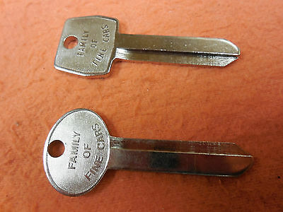 NOS Ford Key Blanks 1967,68,69,70,71,72,73,74,75,-92 Mustang,Shelby,Cougar,