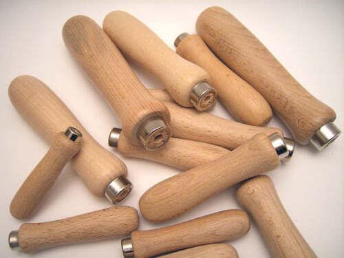 Set 2 Manici di Legno per lima mm.100 RIF 75350 F203