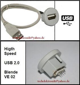 USB-Einbaubuchse-einbausteckdose-Buchse-150cm-passend-fuer-E61-E30-E46-E90-E60-M3