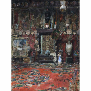 Madrazo-Mariano-Fortuny-039-s-Studio-Rome-Painting-XL-Canvas-Art-Print