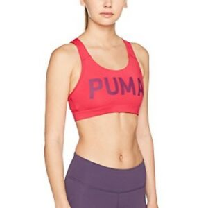 65a731af Details about NWT Puma Sports Bra Mid Impact Powershape Forever Logo Love  Potion Small