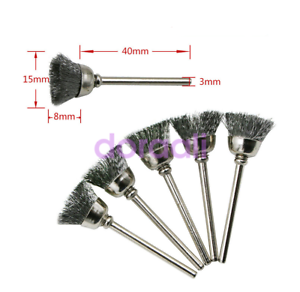 Stainless Steel Wire Brush Set For Dremel Rotary Tool die grinder removal wheel