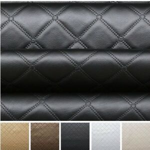 Faux-Leather-Diamond-Fabric-Heavy-Duty-Leatherette-Upholstery-Vinyl-Material