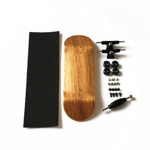 Light-Brown-32mm-Basic-Complete-Wooden-Maple-Fingerboard-Skateboard-Handmade