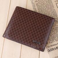 New Men's Designer Brown Leather Wallet Credit Carder Holder Bifold Checks Purse