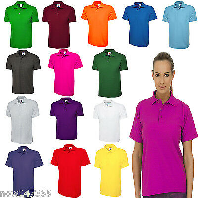 Ladies Polo Shirt Loose Fit / Long Length / Plus Size 10 to 28 Unisex | eBay