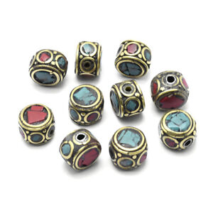 10 Strds Handmade Polymer Clay Beads Round Colorful Loose Beads Crafting 8mm DIA