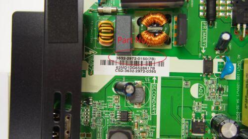 Power Supply Board D32hn-D0 7B Vizio 0171-2271-5647 p//n Main 3632-2972-0150