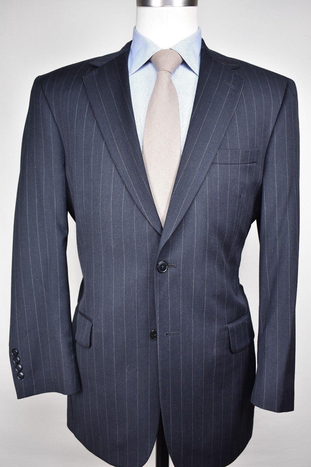 Jos. A. Bank Dark grau Pinstripe Worsted Wool Two Button Two Piece Suit Größe 41R