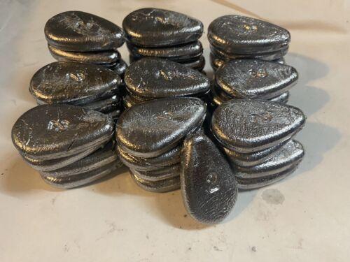 Bank Sinker 2oz No Roll Sinker 40 Pieces 5lbs Egg Sinker