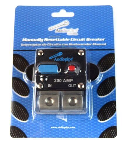 Audiopipe 12 Volt 200 AMP Manual Reset Inline Circuit Breaker Marine Auto