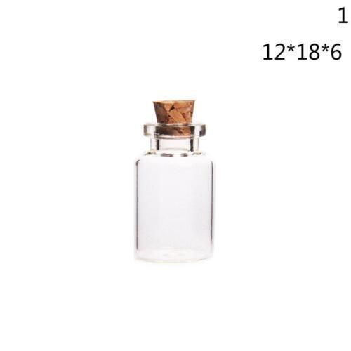 Wholesale Mini Small Tiny Clear Cork Stopper Glass Bottles Vials Jars