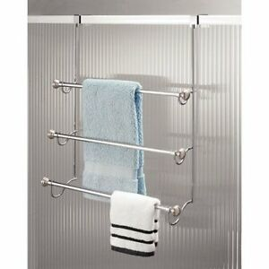 Details About Interdesign York Over The Shower Door Towel Rack For Bath W