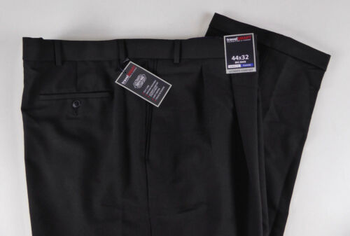 Roundtree /& Yorke Travel Smart Ultimate Comfort Stretch Pleated Dress Pants NWT