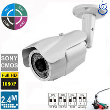 License Plate Recognition HD AHD  Camera 2.4MP 1080P 5-50mm Lens 84 IR LEDs