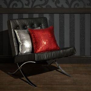 Famosos-Negro-Brillo-Papel-pintado-rayas-Rollos-Arthouse-892500-NUEVO