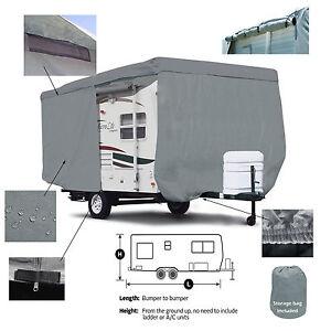 Deluxe Escape 19 Model Travel Trailer Camper Cover W/ Zipper Door