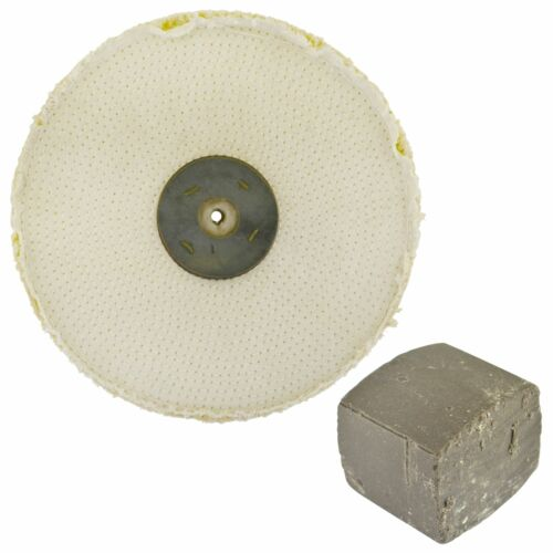 Coarse Sisal Fast Cut Buffing Polishing Mop 10 x 1 2 Row With Compound 250g