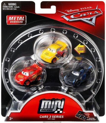 Lightning McQueen /& Jackson Storm Car 3-Pack Rust-Eze Cruz Ramirez
