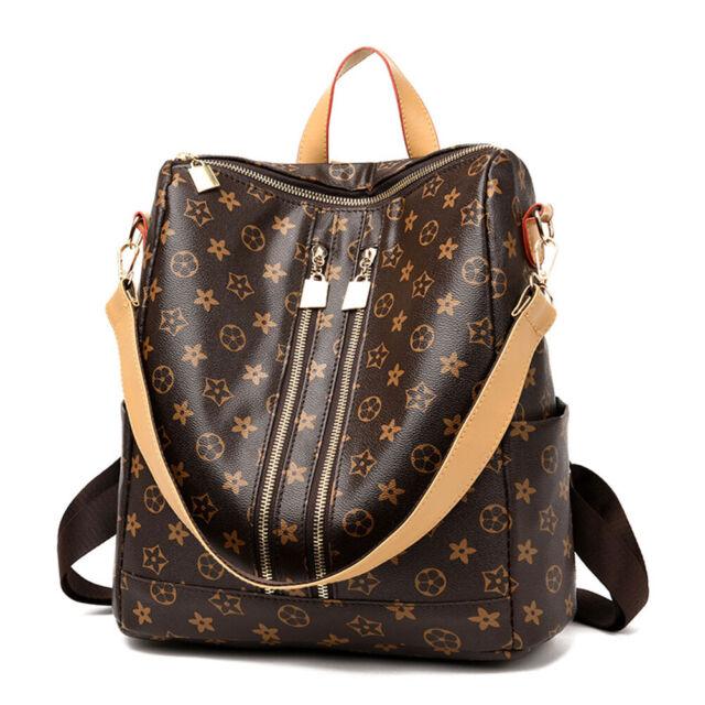 7ffc4c8d279 Women PU Leather Backpack Bag Cute Fashion Purse Cross Shoulder Travel  Handbag