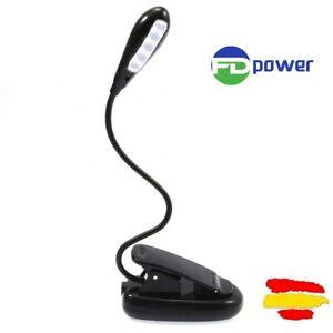 lampara-de-lectura-LED-RECARGABLE-tres-modos-linterna-luz-para-leer-LIBROS-clip