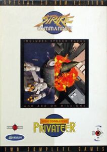 Strike-Commander-Wing-Commander-Privateer-PC-CD-ROM-Origin-Systems-DISC-ONLY