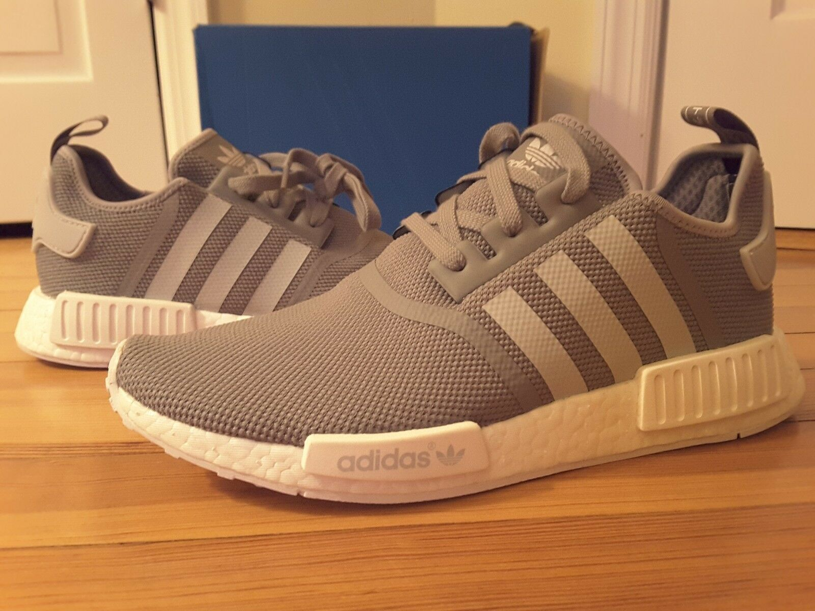 New Adidas Originals NMD R1 Charcoal Grey S31503 NMD_R1 Nomad Runner Cool White