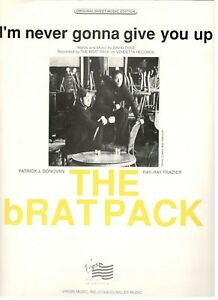 Details About The Brat Pack Im Never Gonna Give You Up Sheet Music Pianovocalguitar New