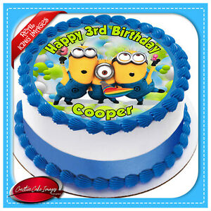 Personalised Minions birthday cake topper