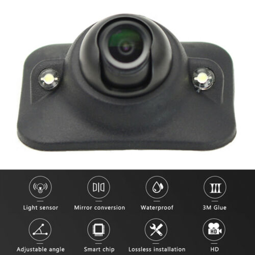 Adjustable Auto Front Side Rear View Camera Light Sensitive LED Waterproof
