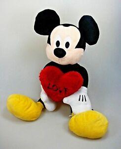 Details zu Mickey Mouse Micky Maus mit Herz Love ca. 45 cm Disney Plüsch Figur