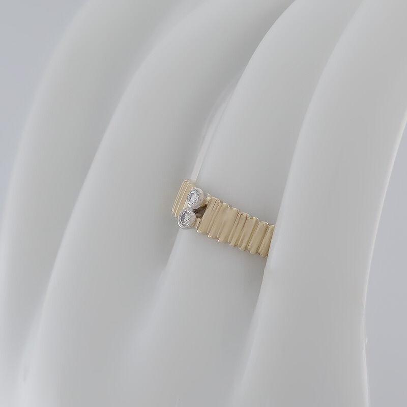 SALDI  BRILLANTE-ANELLO BRILLANTE-ANELLO BRILLANTE-ANELLO CON 2 brillanti (Diamante) ges.ca.0 08ct-14k 585 oro 738161