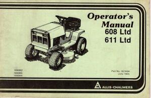 Allis Chalmers Operators Manual 608 LTD 611 LTD M534 | eBayeBay