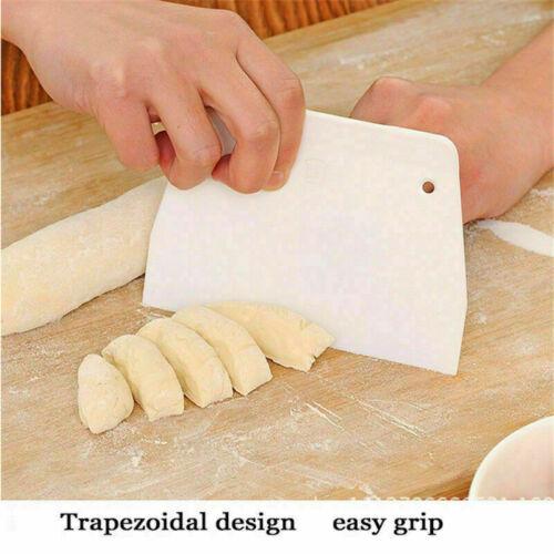 Plastic Scraper dDough Bread Cake Flour Decor White Style Bakin .New X9F4 E9F9