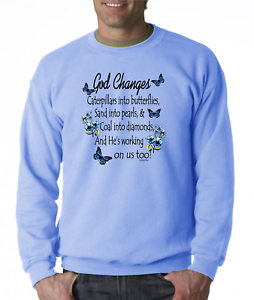 Crewneck-SWEATSHIRT-Christian-God-Changes-Caterpillars-Butterflies