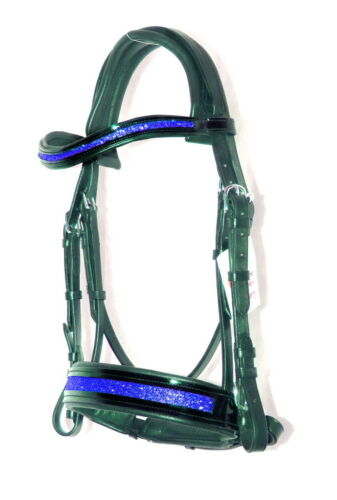 FSS PURPLE GLITTER Sparkle Bling FREEFORM ANATOMIC MONOCROWN CUT AWAY Bridle NEW