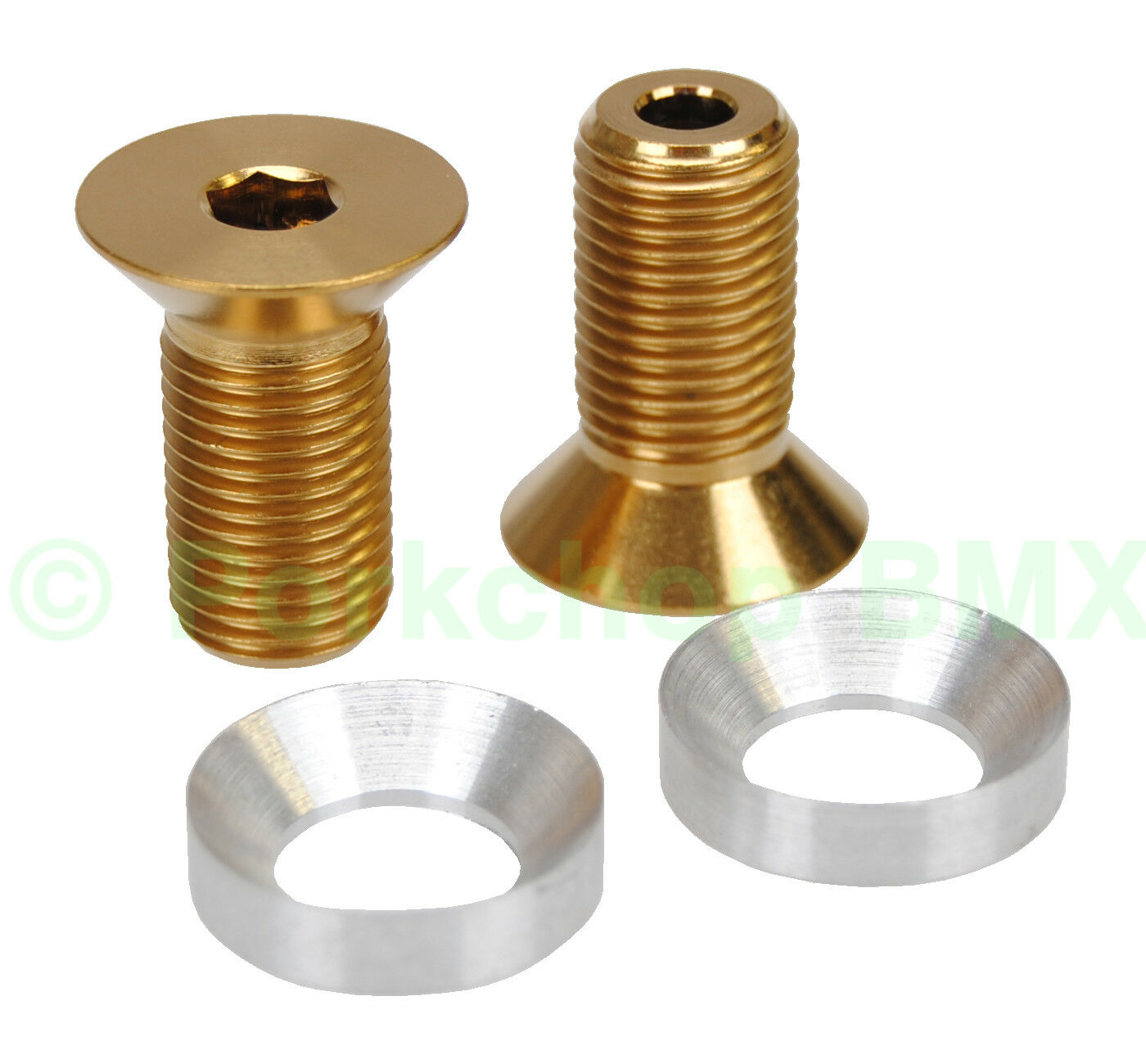 BMX crank HOLLOW bolts fits Profile 19mm GDH spindle PAIR TITANIUM gold