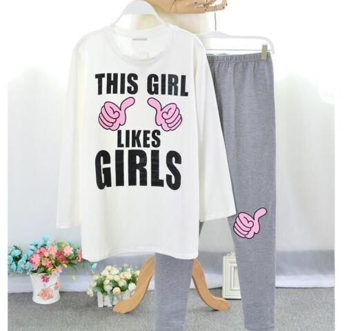 Women/'s Nightwear Pajamas Sets For Winter Autumn Sleepwear Cotton Polyester New