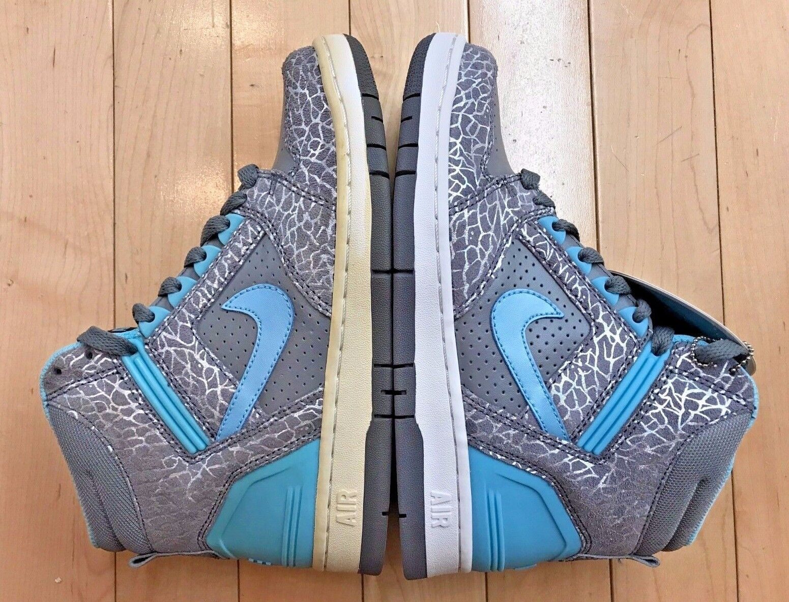 NIKE AIR FORCE II HIGH CLEAR GREY BLUE CONDITIONAL WOMENS Price reduction Seasonal clearance sale