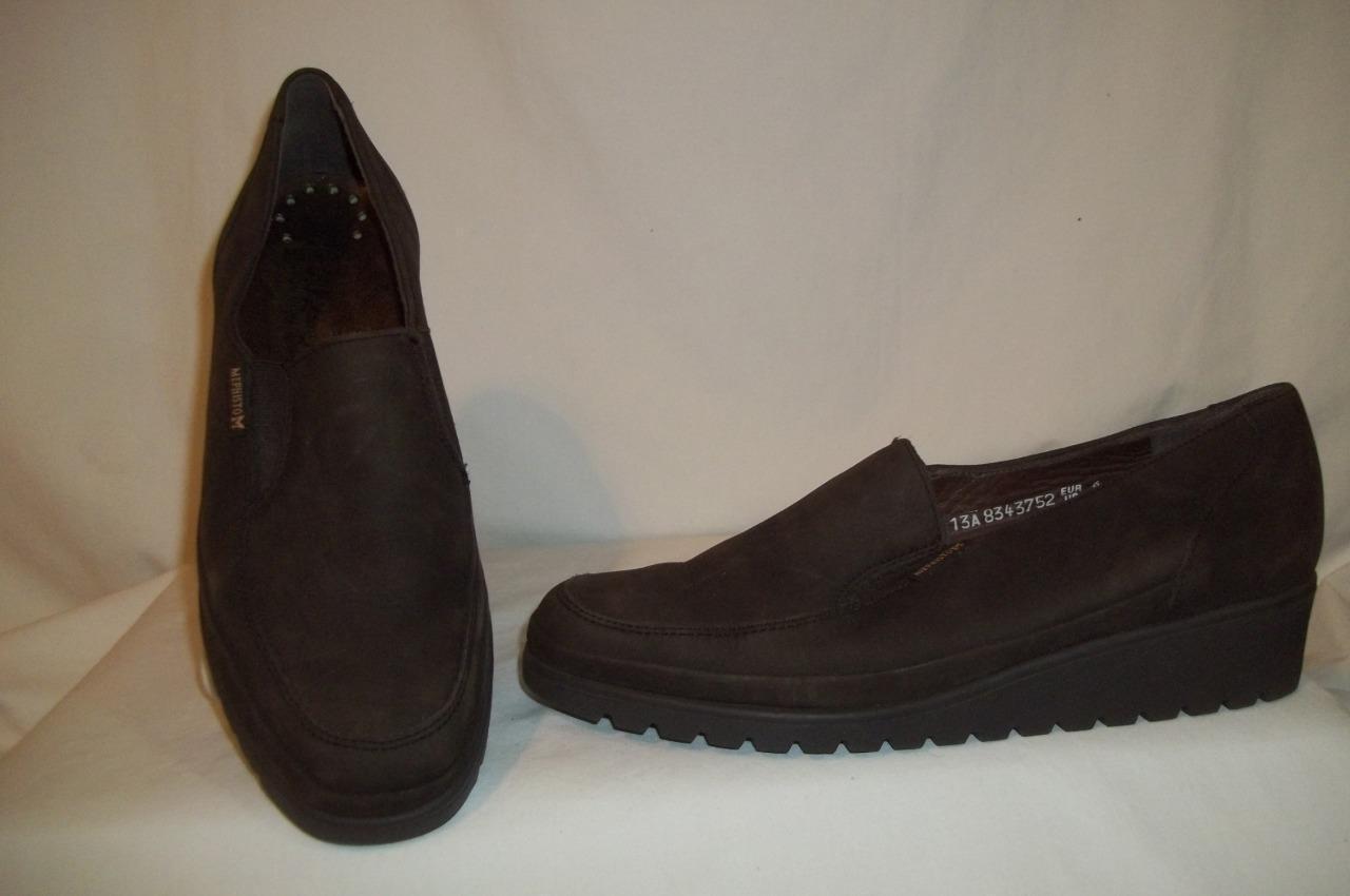 MEPHISTO Dark Brown Leather Wedge Heel shoes 8.5