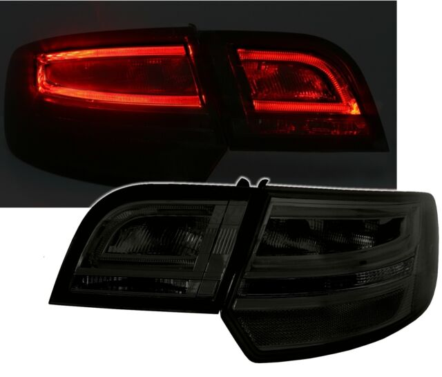 Original LED Lightbar Back Rear Tail Lights Black Smoke Set For Audi A3 8P