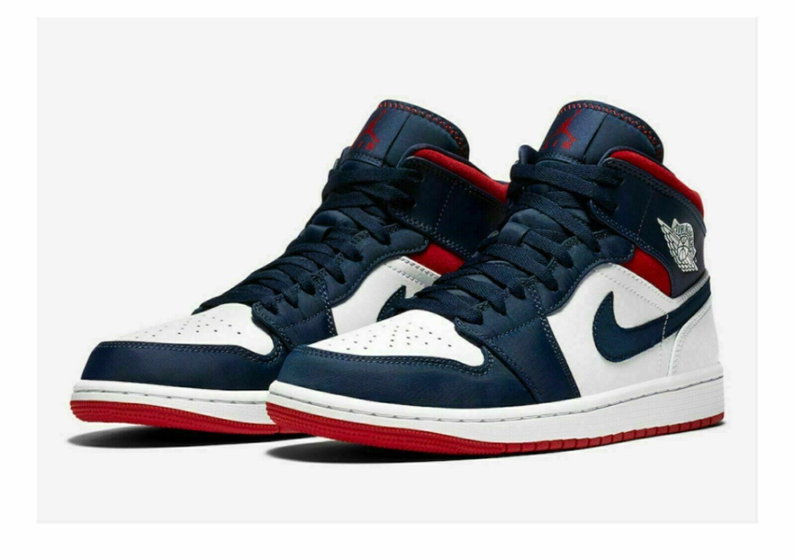 Nike Air Jordan 1 Mid Se Black Patent Leather Gold White 852542