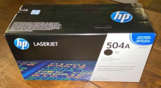 HP CE250A 504A Black Toner Cartridge LaserJet CP3525 Genuine New Open Box