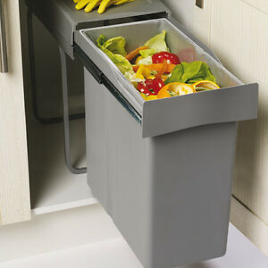 Image Is Loading Kitchen Waste Bin 300mm Unit 40L Large Single