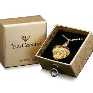 Edler-Glas-Herz-Anhaenger-aus-Glas-gefuellt-mit-999-9-Gold-von-Yves-Camani