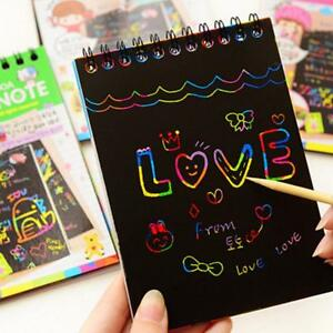 Memo Pads Coloffice Creative Kawaii Memo Pads Kids Rainbow Colorful Scratch Art Kit Magic Drawing Painting Paper Notebook School Suppplies Complete In Specifications