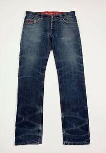 Money-cuba-pesos-jeans-uomo-usato-W30-tg-44-slim-denim-destroyed-boyfriend-T6786